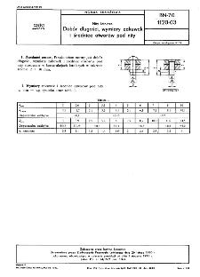 Nity lotnicze - Dobór długości, wymiary zakuwek i średnice otworów pod nity BN-70/1120-03