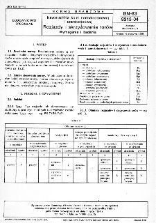 Nawierzchnia kolei normalnotorowej i szerokotorowej - Rozjazdy i skrzyżowania torów - Wymagania i badania BN-83/9313-04