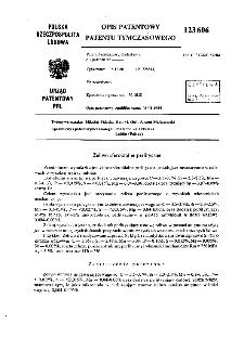 Żeliwo sferoidalne perlityczne : opis patentowy patentu tymczasowego nr 123606