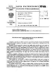 Układ hydrauliczny hamulców najazdowych przyczep samochodowych zwłaszcza campingowych : opis patentowy patentu tymczasowego nr 107490