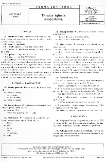 Tarcica iglasta eksportowa BN-85/7111-04