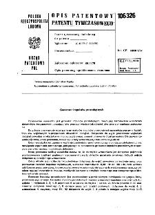 Generator impulsów prostokątnych : opis patentowy patentu tymczasowego nr 106326