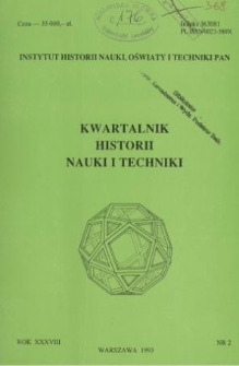 Kwartalnik Historii Nauki i Techniki R. 38 nr 2/1993