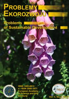 Problemy Ekorozwoju : studia filozoficzno-sozologiczne Vol. 5, Nr 2, 2010